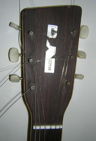 Meazzi Hollywood Artex Gitarre Made In Italy